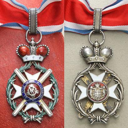 Řád Takovského kříže, III. třída, komandér, stříbro zlacené, smalty, puncováno, kontr