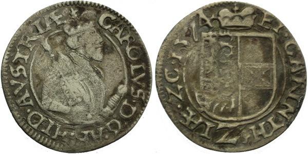 """2 Krejcar 1574, St. Veit, """"R"""""""