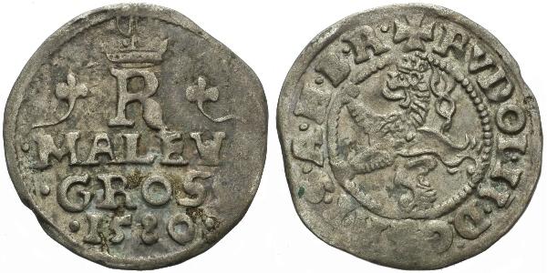 Malý groš 1580, Praha-Gebhart, HN.9