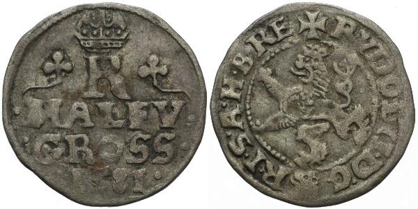 Malý groš 1581, Praha-Gebhart, HN.8a