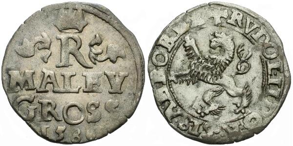 Malý groš 1586, Praha-Ercker, HN.21