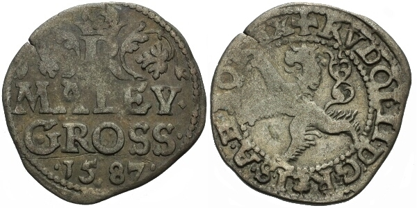 Malý groš 1587, Praha-Ercker, HN.26(6e)