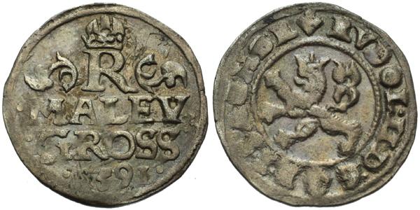 Malý groš 1591, Praha-Ercker, HN.21