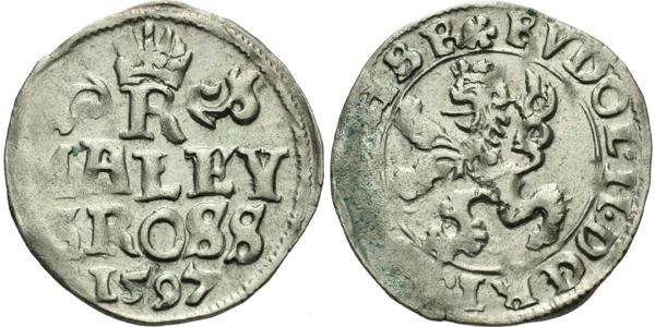Malý groš 1597, Praha-Erckerová, HN.38b