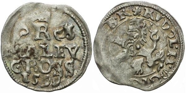 Malý groš 1599, Praha-Erckerová, HN.38b