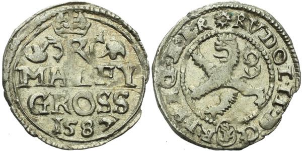 Malý groš 1587, Kutná Hora-Šatný, HN.1b