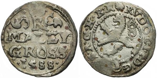 Malý groš 1588, Kutná Hora-Šatný, HN.3a