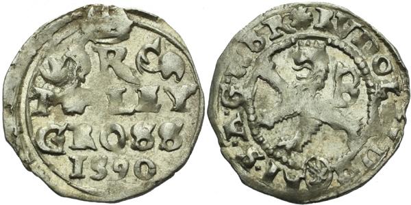 Malý groš 1590, Kutná Hora-Šatný, HN.1b