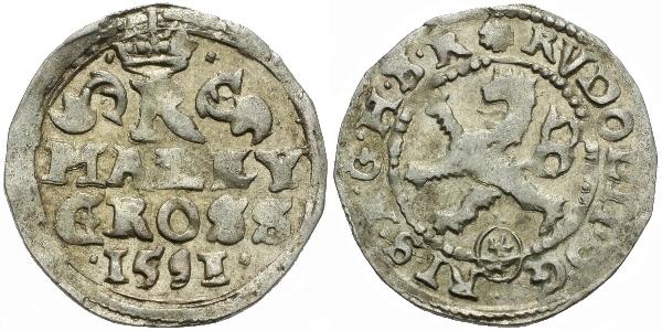 Malý groš 1591, Kutná Hora-Šatný, HN.3