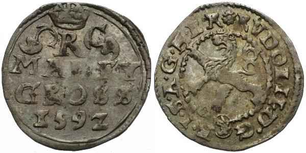Malý groš 1592, Kutná Hora-Šatný, HN.1b