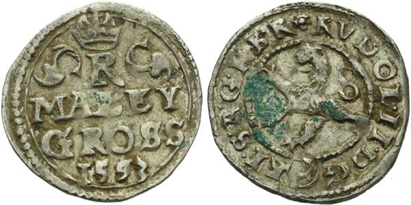 Malý groš 1593, Kutná Hora-Herold, HN.8