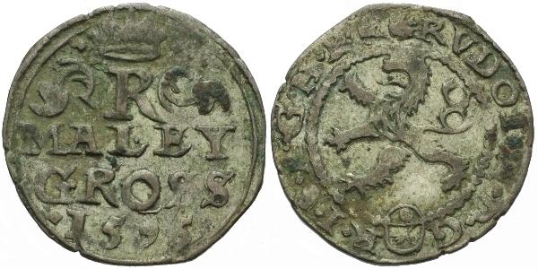 Malý groš 1595, Kutná Hora-Šatný, HN.10