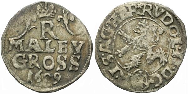 Malý groš 1609, Kutná Hora-Škréta, HN.17