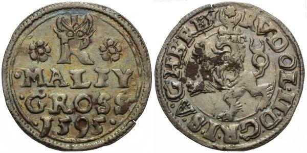 Malý groš 1595, Jáchymov-Hoffmann, HN.8b