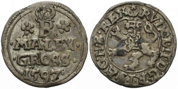 Malý groš 1597, Jáchymov-Hoffmann, HN.7c