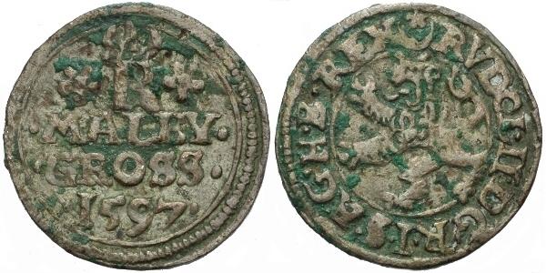 Malý groš 1597, Jáchymov-Hoffmann, HN.8b