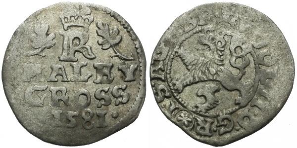 Malý groš 1581, České Budějovice-Schönfeld, HN.10
