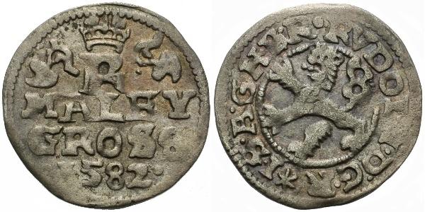 Malý groš 1582, České Budějovice-Schönfeld, HN.15a