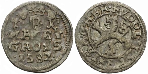 Malý groš 1582, České Budějovice-Schönfeld, HN.19a
