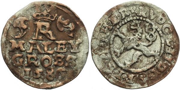 Malý groš 1586, České Budějovice-Mattighofer, HN.24a