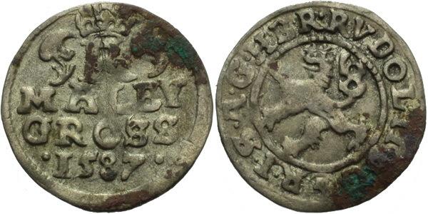 Malý groš 1587, České Budějovice-Mattighofer, HN.25a