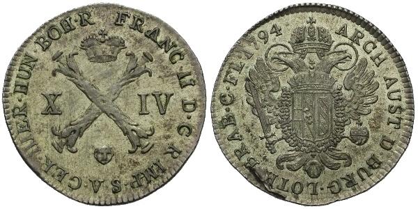 XIV Liard 1794, Brusel