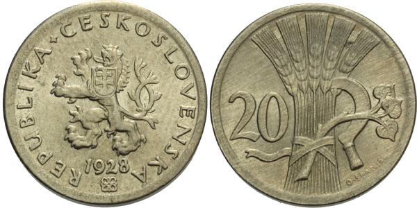 20 haléř 1928