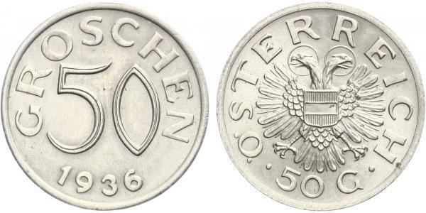 Rakousko, 50 Groš 1936