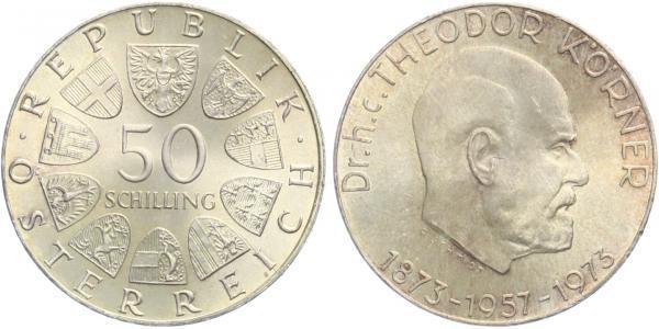 Rakousko, 50 Schilling 1973 - 100. výročí narození Dr. Theodora Kornera