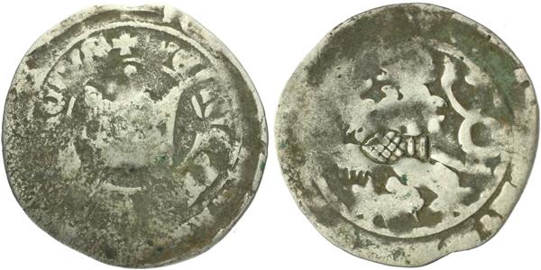Pražský groš s kontramarkou města Augsburg, Sm. 16, Krusy A6,1