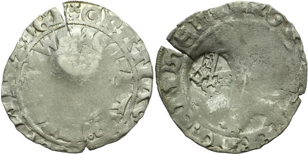 Pražský groš s kontramarkou města Regensburg, Sm. 158, Krusy R4,1