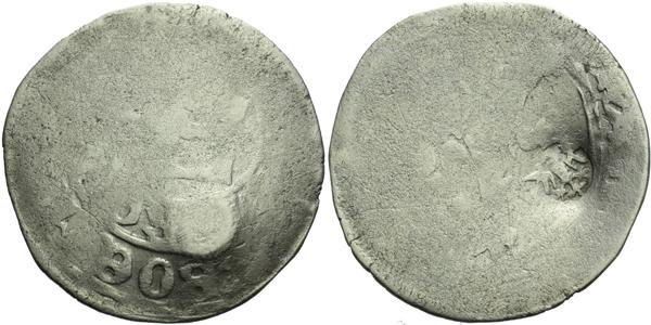 Pražský groš s kontramarkou Švábského svazu, Sm. 211, Krusy S5,2