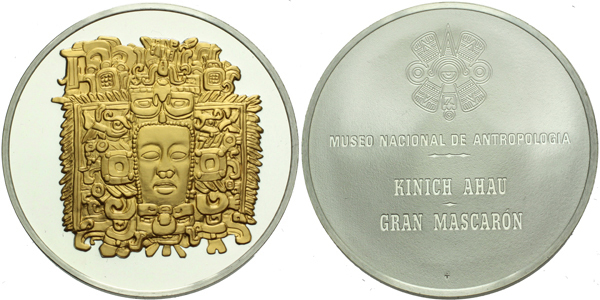 AR Medaile b.l. - Národní archeologické museum Kinich Ahau - Gran Mascaron, Ag 0,800