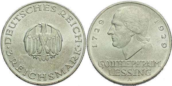 3 Marka 1929 A - 200. výročí narození G. E. Lessinga