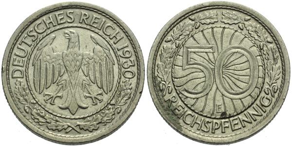50 Reichspfennig 1930 E