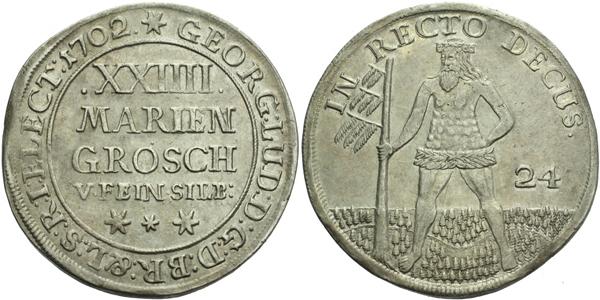 24 Mariánských grošů 1702