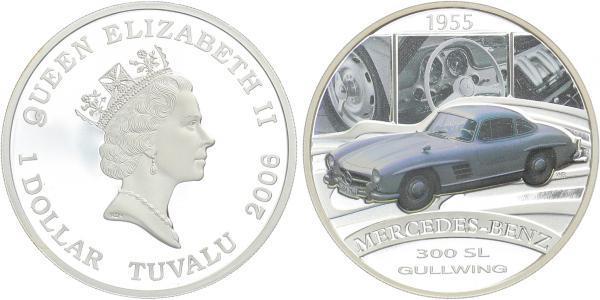 1 Dollar 2006 - Mercedes-Benz 300 SL, orginální etue a certifikát, Ag 0,999, 1 Oz., (