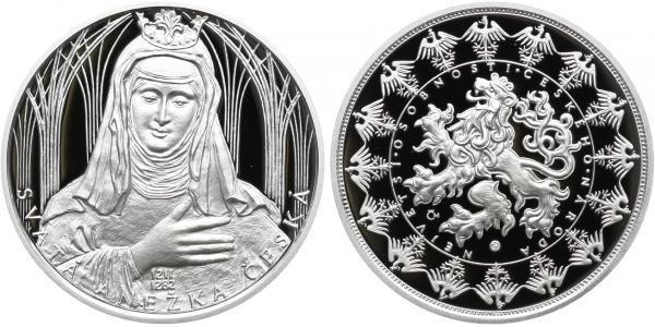AR Medaile b.l. - Svatá Anežka Česká - Největší osobnosti českého národa, PROOF