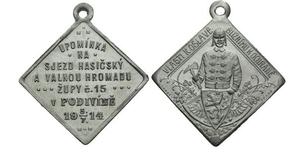 AE Medaile 1914 (Karnet Kyselý) - Upomínka na sjezd hasičský a valnou hromadu župy č
