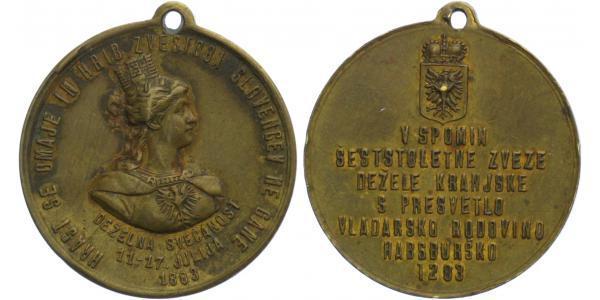AE Medaile 1883 - 600. výročí příslušn. Slovinska k Habsburskému domu, 1283 - 1883, 3