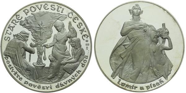 Medaile b.l. - Staré pověsti České - Lumír a píseň, PROOF