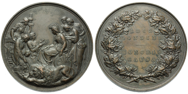 AE Medaile 1862 - Londini / Honori Causa, na hrane L. DORMITZER AND SONS. CLASS XXIII