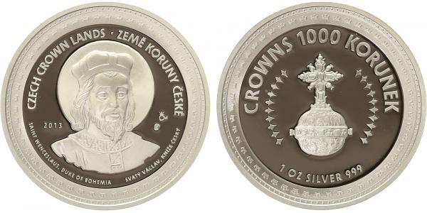 AR Medaile 2013 - Korunovační klenoty - Svatý Václav / Královské jablko