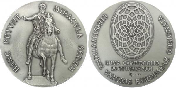 AR Medaile 2004 - Podpis Evropské ústavy 29.10.2004, Ag 0,986 (120,2 g)