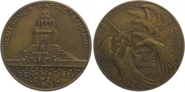 AE Medaile 1913 - Německý vlastenecký spolek - památník bitvy u Lipska 1813 - 1913, 4