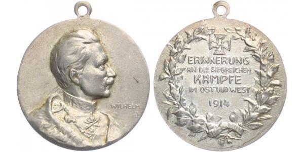 AE Medaile 1914 - Vzpomínka na vítezné boje na západe a východe, 27,5 mm (7,64 g)