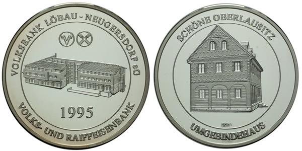 AR Medaile 1995 - Volksbank a Raiffeisenbank Löbau - Neugersdorf, Ag 0,999, 35 mm (14