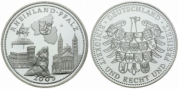 AR Medaile 2005 - Rheinland - Pfalz, Ag (bez označení ryzosti), 40 mm (20 g), PROOF