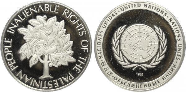 AR Medaile 1981 - OSN, Ag 0,925, 38 mm (19,74 g), PROOF