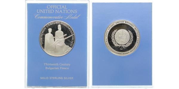 AR Medaile 1981 - OSN, Ag 0,925, 38 mm ( kolem 20 g), PROOF
